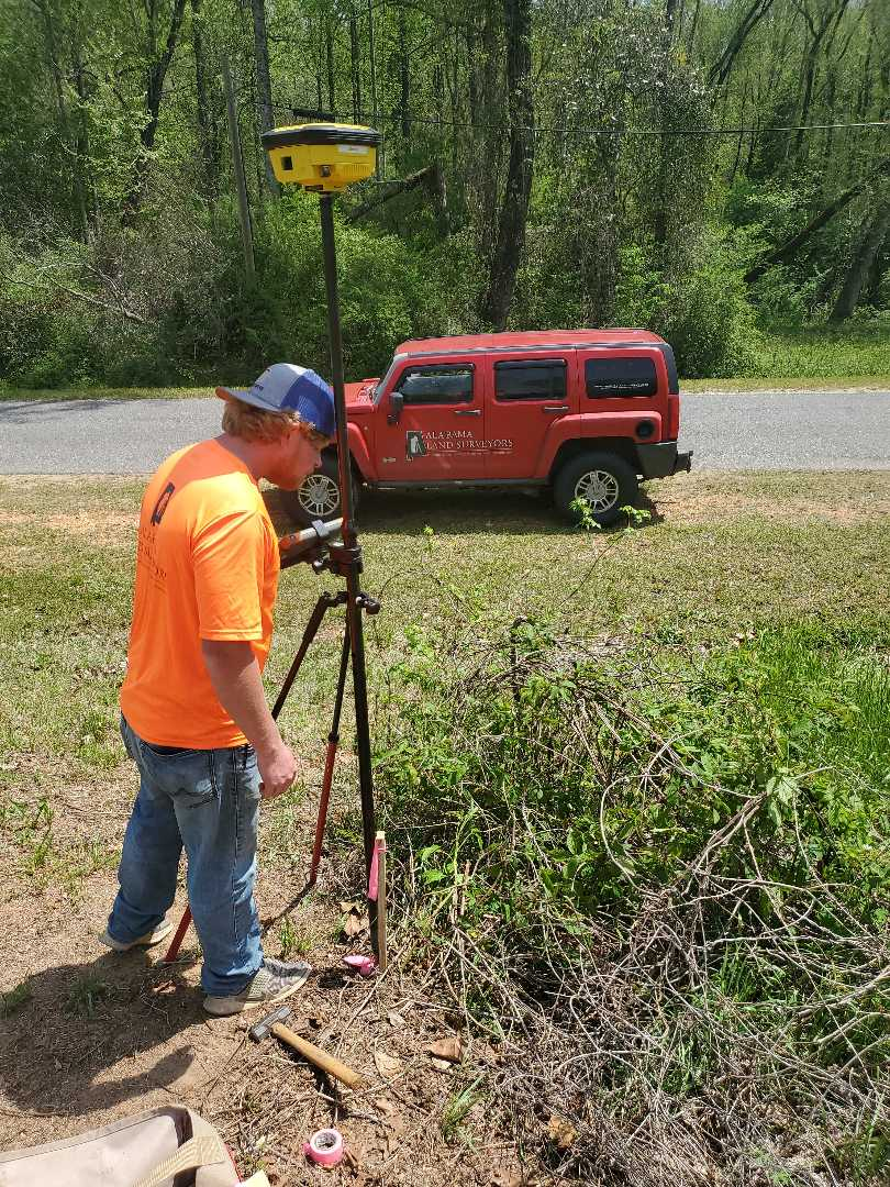 Montgomery, AL - We are cutting out a half acre for our client! It's a beautiful day to be surveying!