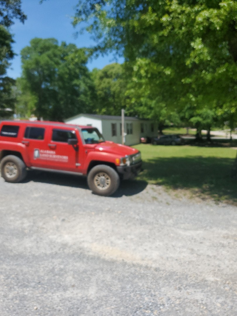 We are working on an ALTA survey of a trailer park in Clanton on this beautiful Monday!