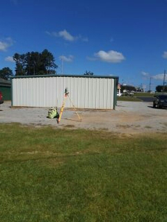 Surveyor Luverne, AL | Sign location survey in Luverne, Alabama. Located property lines, corners, and utility easements for proposed advertising sign.