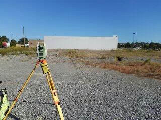 Surveyor Prattville, AL | Topographic survey for new commercial construction. In Prattville, Alabama
