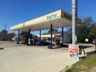 Completed a retracement Survey of Big Cat gas station in Bolyston, Alabama.
