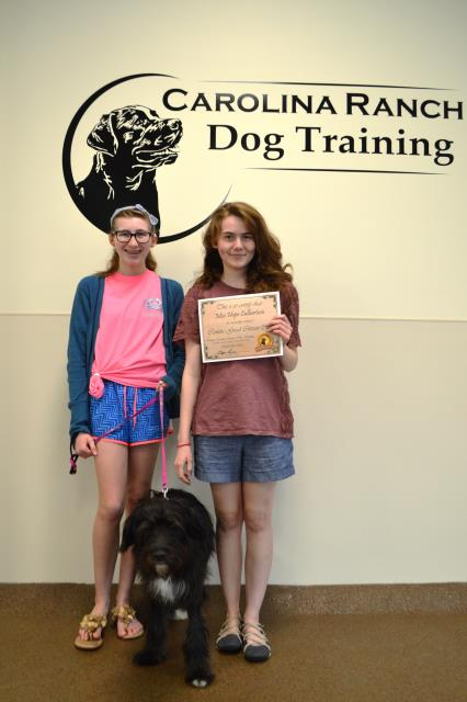 Garner, NC - Miss Hope and family graduated our obedience class with Lynn. Great job ladies.