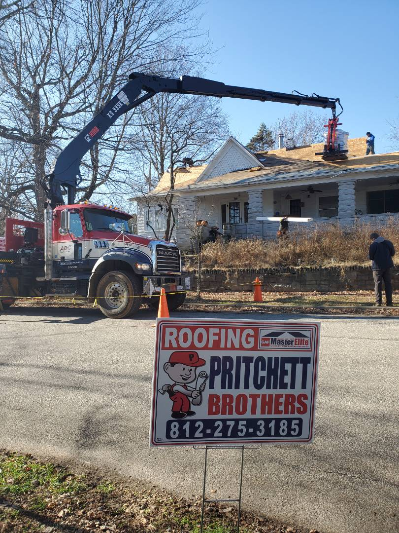 Bloomington, IN - Beautiful day for a new Roof.