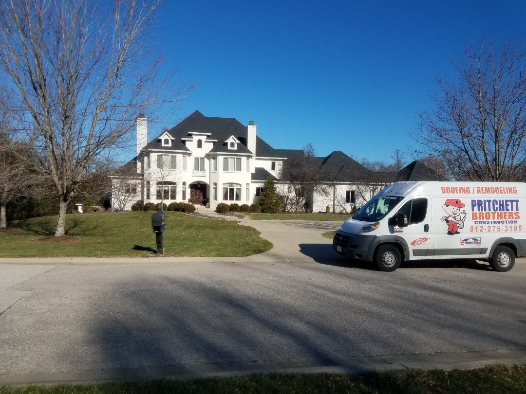 Bloomington, IN - Roof and Gutter replacment. Bloomington, IN  GAF TIMB HD CHARCOAL
