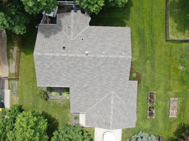 Lakeville, MN - This roof was replaced by insurance company do to hail damage.