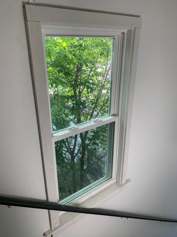 Saint Paul, MN - Just finished trimming out the last window.