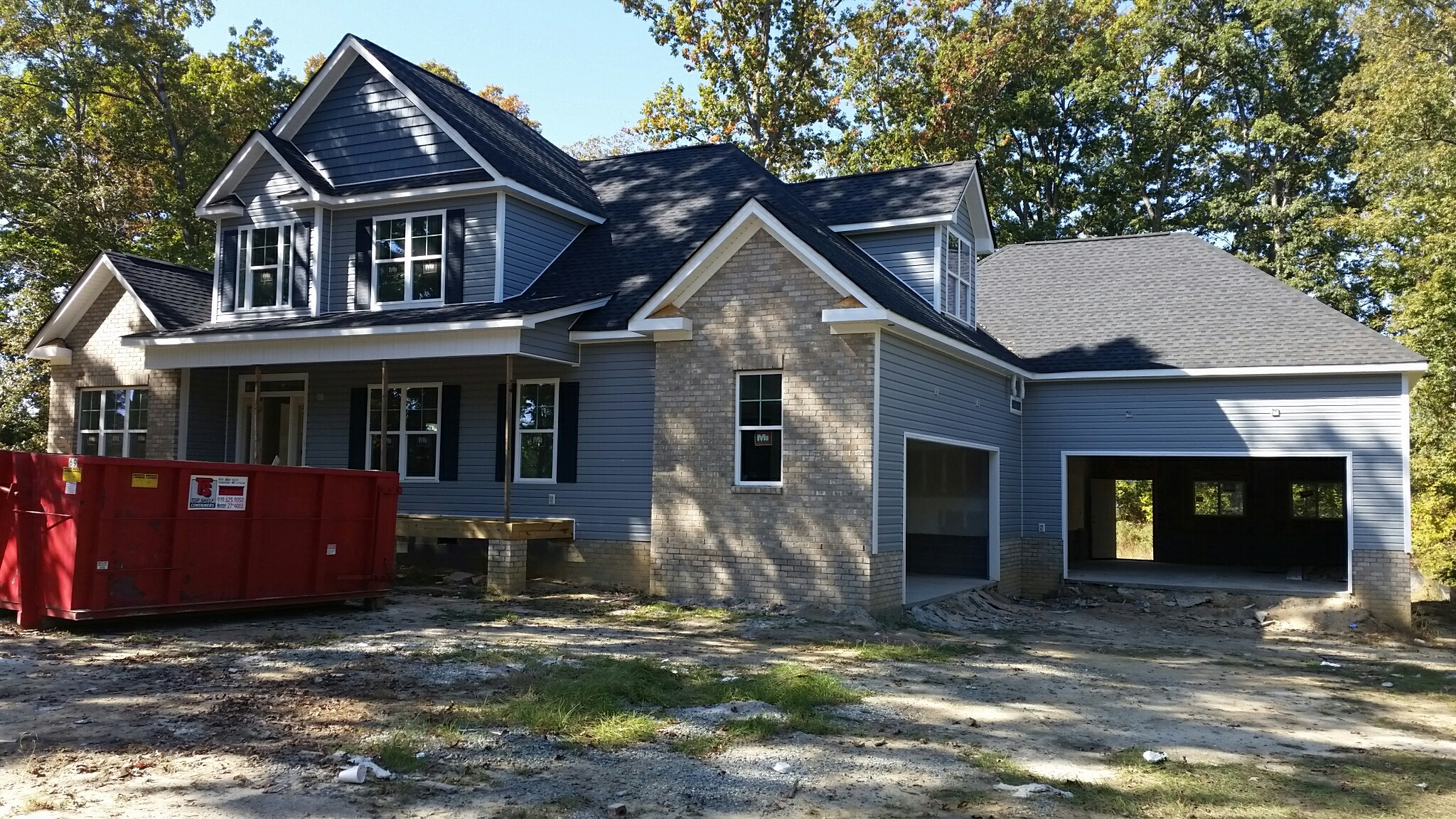 New custom home close to completion! Looking for a reliable residential home construction company in the Triangle Area? Call Bootham Builders' Licensed general contractors for a FREE ESTIMATE! (919) 610-1492