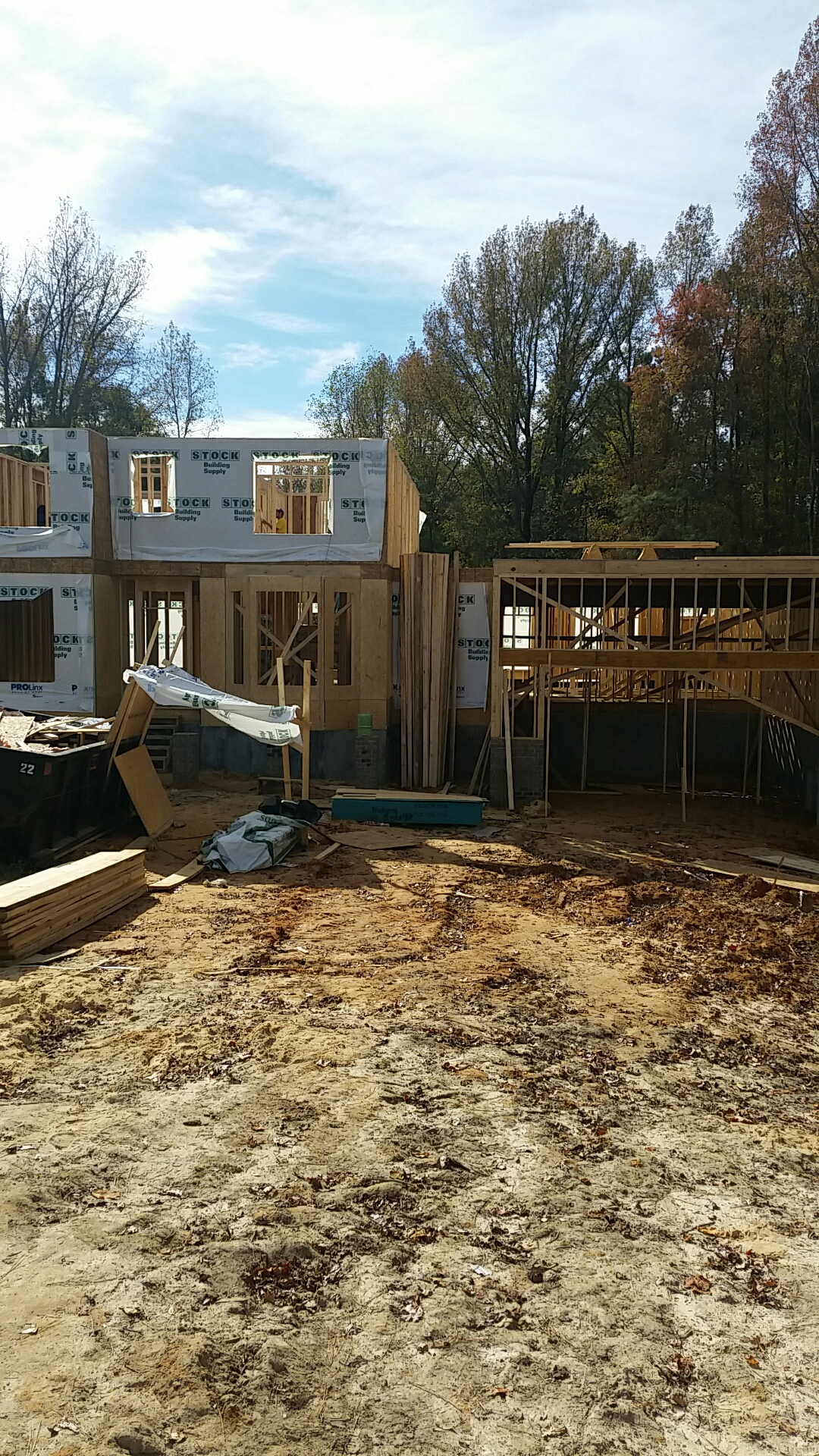 Fuquay Varina, NC - Finishing up the second floor.   Lots of storage in this beautiful custom home.   Call today for you construction needs.   919-610-1492