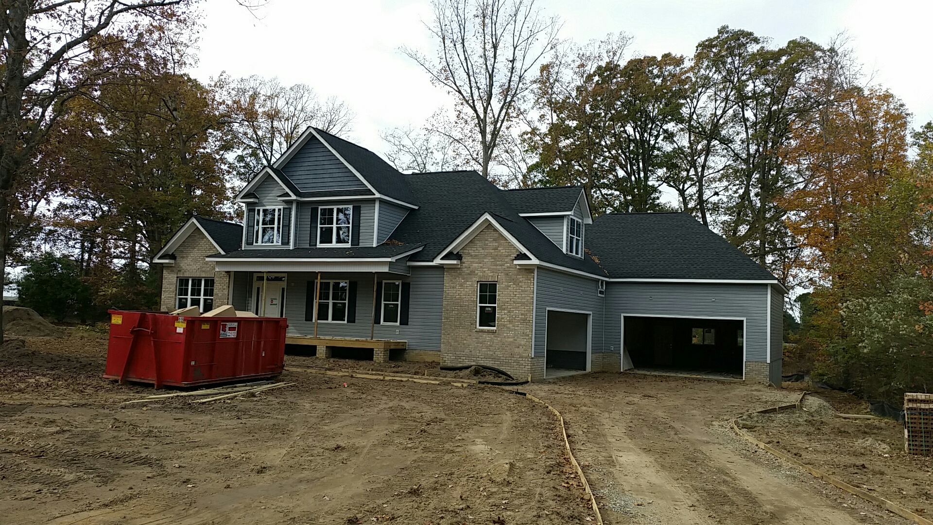 This custom  home is nearing completion.   Call Bootham Builders for a licensed custom home contractor in the Triangle.  Jason.   919-610-1492
