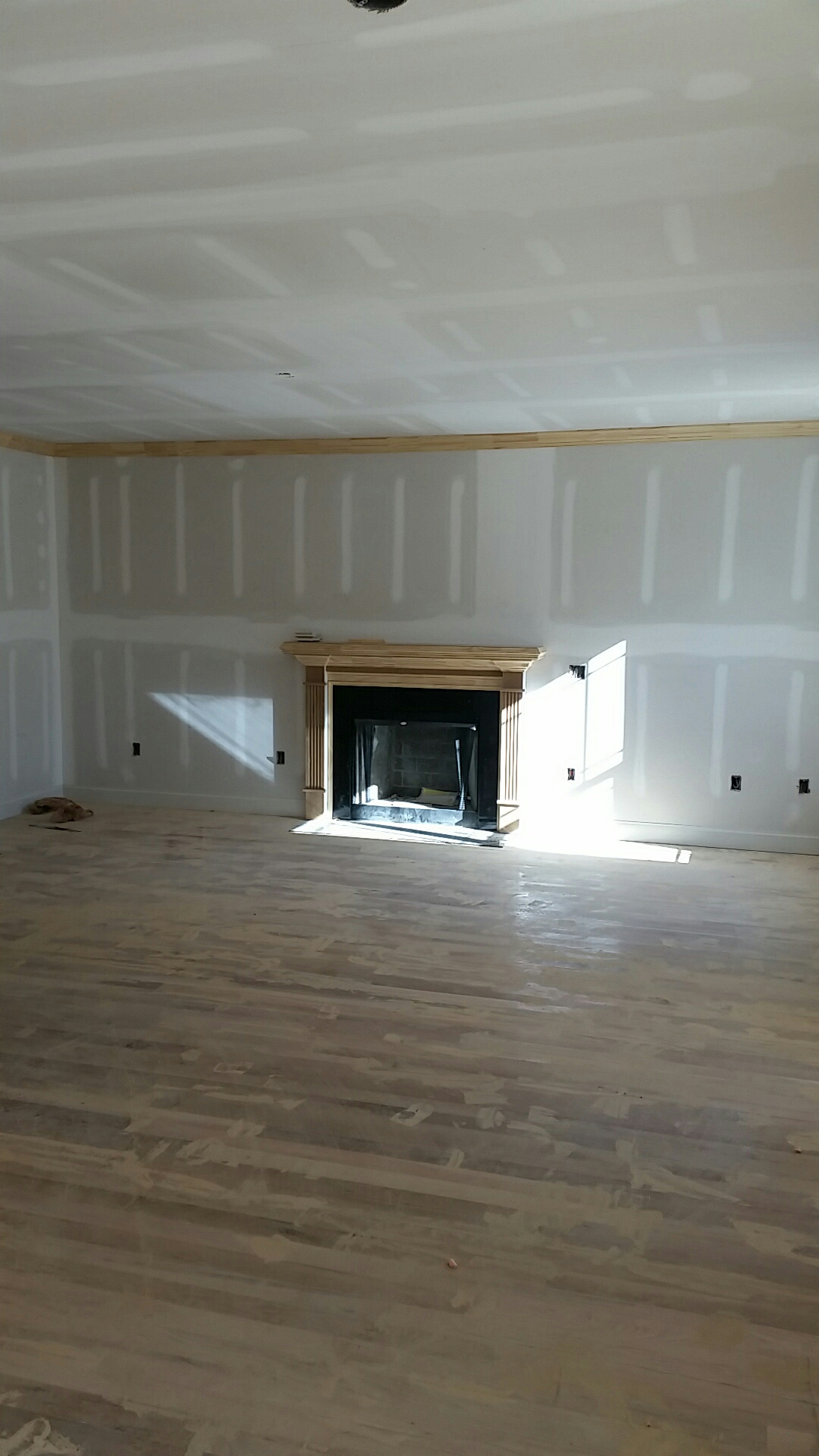 Custom trim going in.   Large family room.   Lots of custom touches in this beautiful custom home.