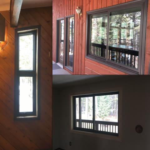 Columbia Falls, MT - Our professional installers replaced old wood windows that had foggy glass with new Renewal by Andersen Insulated windows