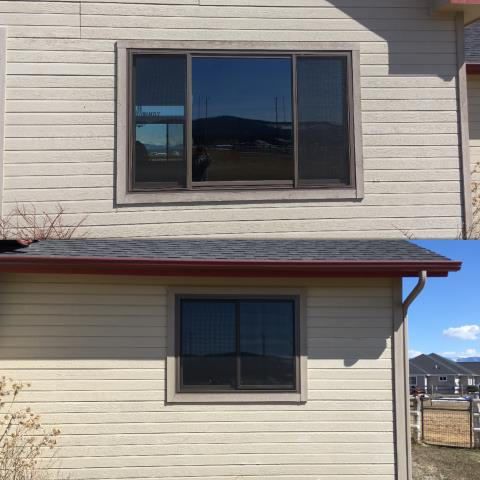 Kalispell, MT - We replaced 13 year old vinyl windows that had failed with Renewal by Andersen Insulated Fibrex Windows in Kalispell.