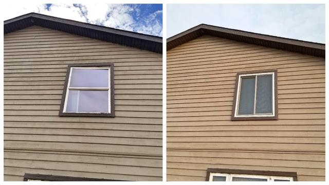 Rapid City, SD - Replaced these old, leaky double hung windows with some nice Renewal by Andersen gliders in Rapid City.