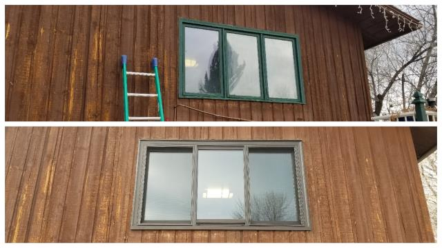 Missoula, MT - We replaced these old wooden windows with insulated Fibrex Windows in Missoula!