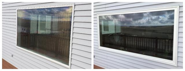 Great Falls, MT - We updated these vinyl windows with new RBA fibrex picture windows.