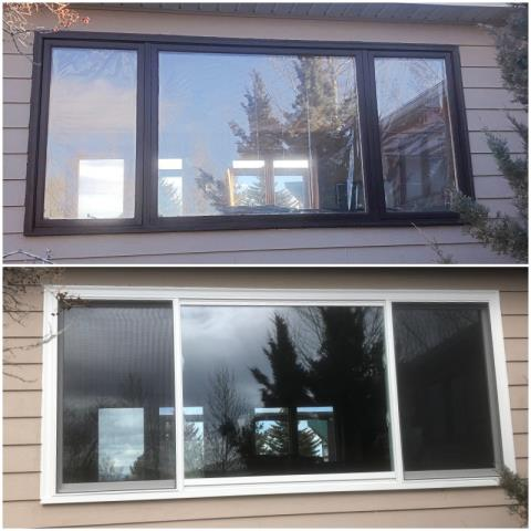 East Helena, MT - We replaced 3 windows on this home with Fibrex windows in East Helena, MT