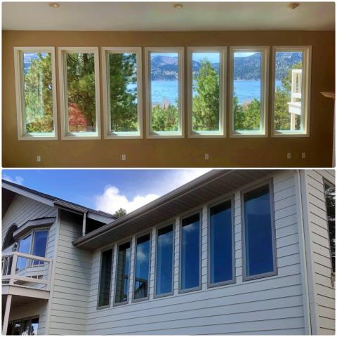 Helena, MT - Our professional installers updated 7 windows overlooking  Canyon Ferry Dam near Helena, we're glad we were able to enhance the view!