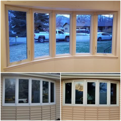 Hamilton, MT - We removed 5 old rotten wood windows and replaced them with Renewal by Andersen Fibrex windows in Hamilton.