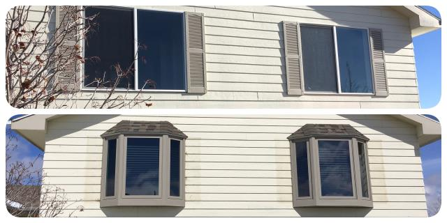 Bar Nunn, WY - Our crew replaced vinyl windows from the mid 80s with new Fibrex bay windows from Renewal by Anderson in Barr Nunn.