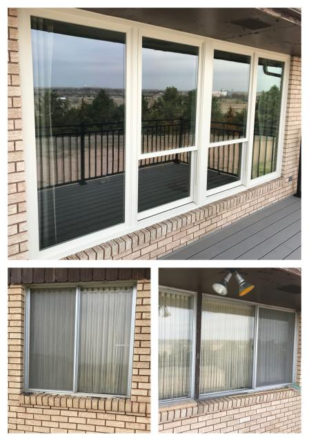 Chappell, NE - We replaced old aluminum windows with new Fibrex Renewal by Andersen windows in Chappell!
