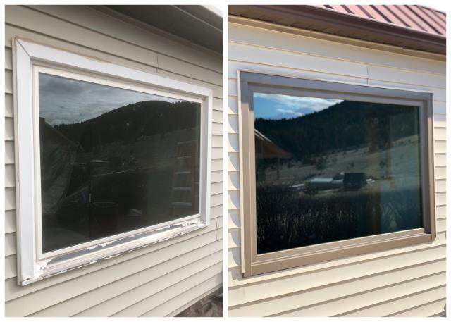 Philipsburg, MT - Our installers replaced 3 more windows for this returning customer in  Phillipsburg.  We were glad they were so impressed with our quality they decided to order more!