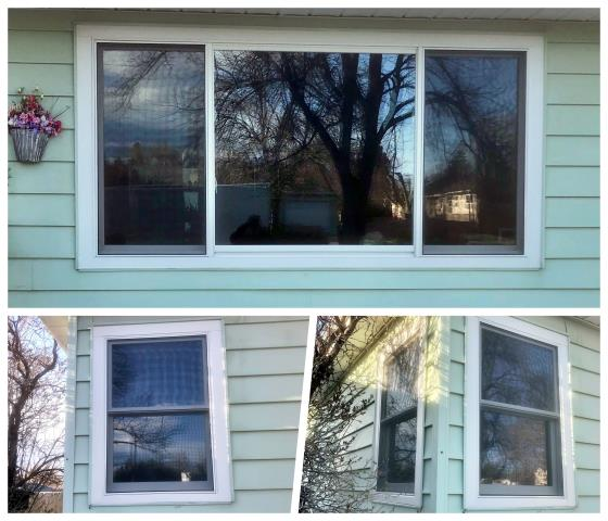 Great Falls, MT - Our crew replaced all 7 windows in this cozy little home in Great Falls.