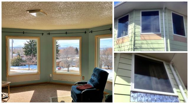 Great Falls, MT - We replaced 4 windows for a gentleman that did not want tempered glass, the solution was to shrink the windows, a little extra carpentry and this Great Falls, home was set!