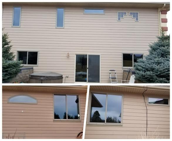 Rapid City, SD - We can do almost any sized custom window!  Look at all the odd shaped windows we replaced on this home in Rapid City!