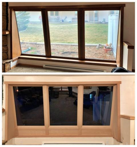Casper, WY - Our installers switched out this old window with a new Fibrex window in Casper.