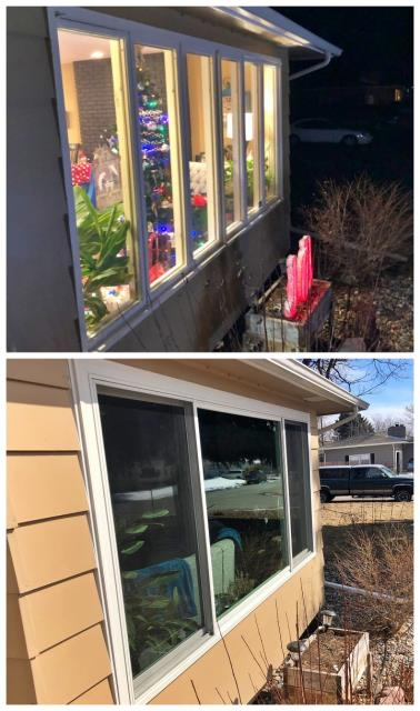 Billings, MT - This homeowner in Billings opted for larger Fibrex picture windows to help open up the view in the living room.