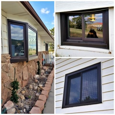 Hot Springs, SD - We replaced several failing windows on this house with Renewal by Andersen insulated Fibrex windows in Hot Springs!