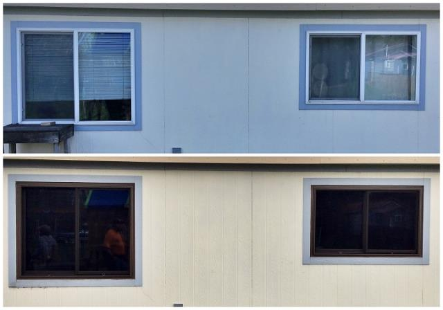 Kalispell, MT - We replaced 6 moldy vinyl windows in this manufactured home in Kalispell!