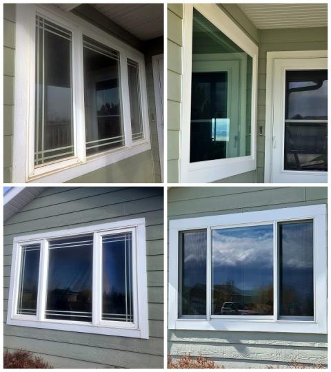 Helena, MT - We replaced 8 old windows on this home in Helena with new Fibrex Renewal by Andersen windows.
