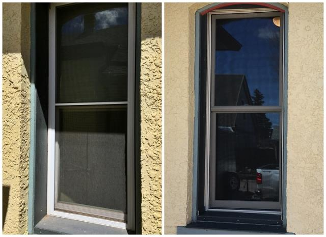 Laramie, WY - Wood pocket inserts in a house built around 1895 in Laramie. We updated the look with high quality windows from Renewal by Andersen of Wyoming.