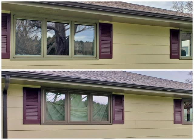 Billings, MT - This home in Billings received new brickmold Fibrex casement windows replacing the old wood windows.