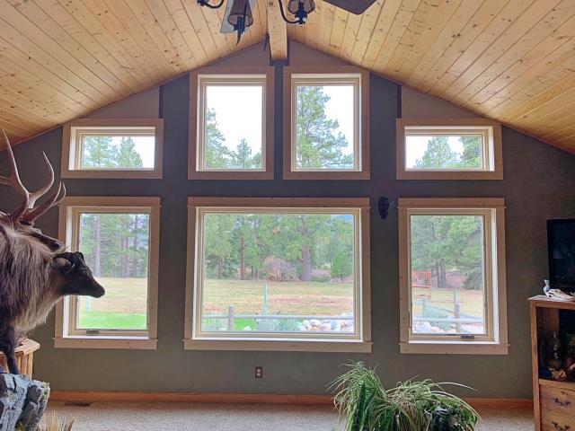 Darby, MT - Replaced old IG units with Fibrex full frame windows in Darby!