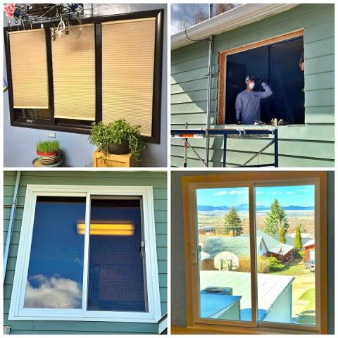 Helena, MT - This was an awesome transformation! We swapped out a window for a Second-story patio door in Helena, MT!