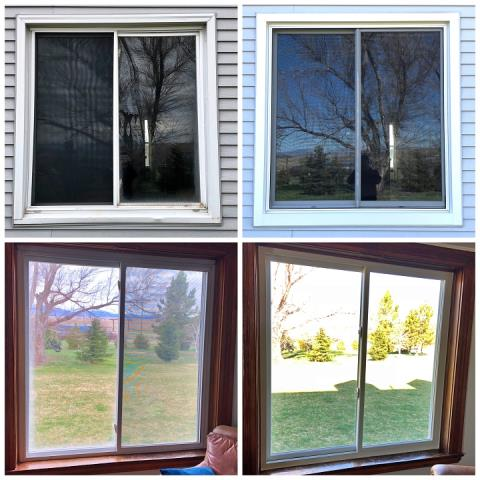 Wheatland, WY - We replaced this old vinyl window with a Renewal by Andersen Fibrex slider window in Wheatland!