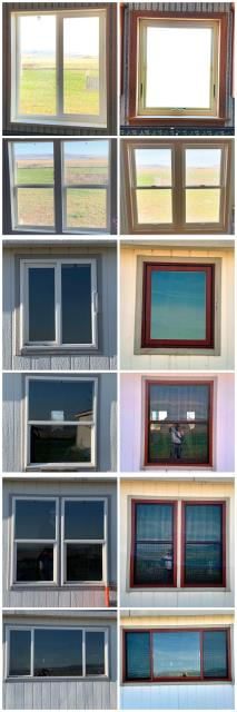 Belgrade, MT - Full frame install we replaced old vinyl windows with Renewal by Andersen fibrex windows trimmed in 2 1/4 oak colonial trim on this home in Belgrade!