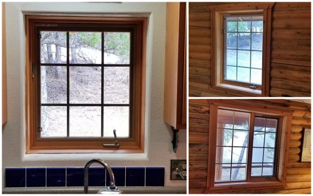 Choteau, MT - We replaced some old worn wooden windows with these insulated Fibrex Renewal by Andersen windows in Choteau!