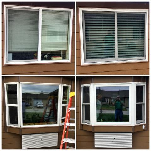 Billings, MT - We switched out these old Vinyl windows with new Fibrex windows in Billings