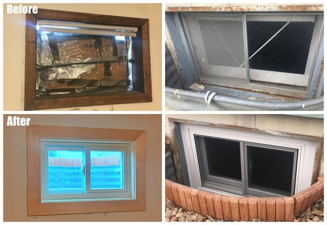 Casper, WY - We replaced a broken basement window with a new glider window from Renewal by Andersen of Wyoming