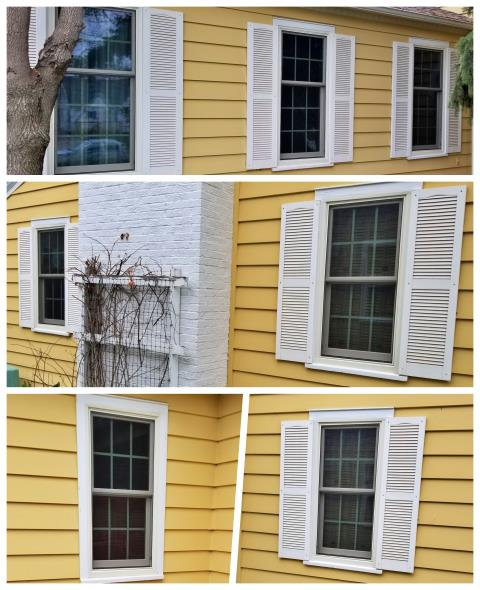 Rapid City, SD - We replaced old wood single pane windows from the 40's and replaced with new Renewal by Andersen double hung windows on this home in Rapid City