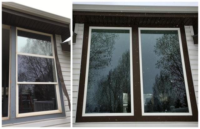 Laramie, WY - We replaced 2 windows in Laramie with new Fibrex windows from renewal by Andersen of Wyoming