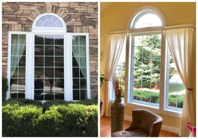 Helena, MT - Here's an outside/inside look at windows we replaced with Fibrex Renewal by Andersen windows in Helena.