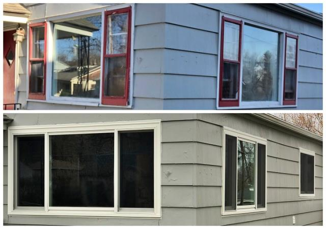 Helena, MT - We updated 8 windows in the small downtown home in Helena, MT. After replacing all of their windows they should feel the difference in efficiency immediately!
