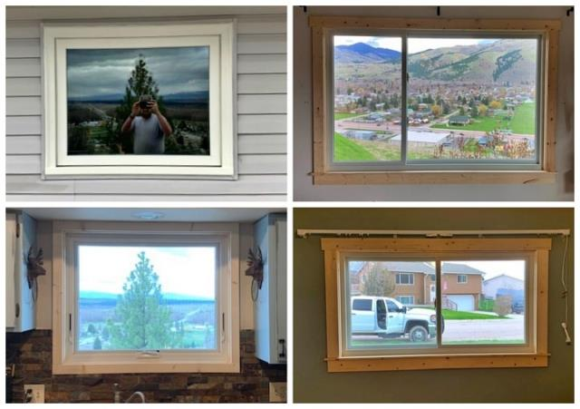 Lolo, MT - We replaced some old brick mold windows with these new fibrex windows from Renewal by Andersen of Montana