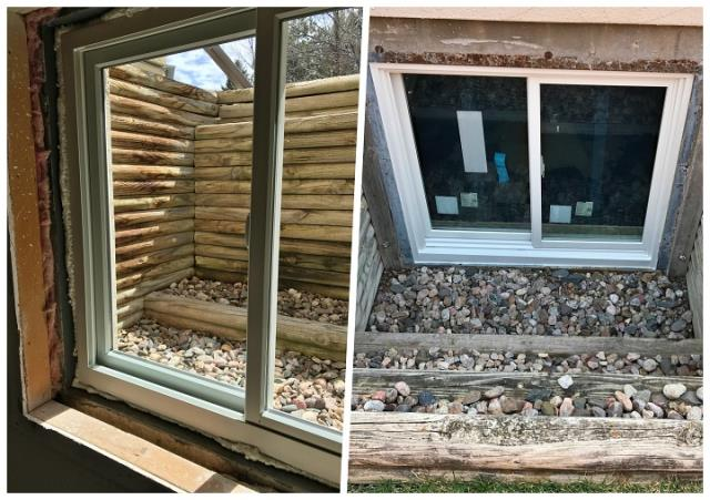 Cheyenne, WY - We replaced old aluminum with fibrex windows in this basement remodel in Cheyenne!