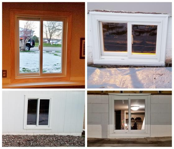 Rapid City, SD - We replaced old wood windows with renewal by Andersen glider windows on this home in Rapid City.
