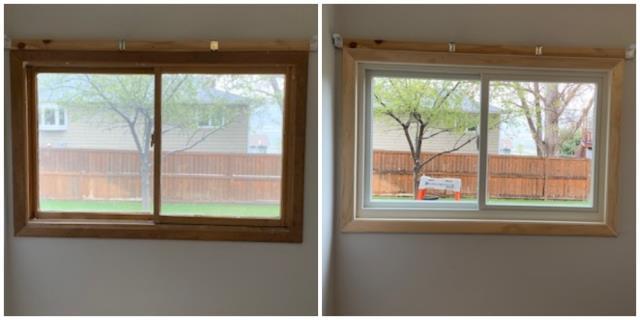 Billings, MT - We replaced wood brick mold windows with Renewal by Andersen fibrex windows in Billings